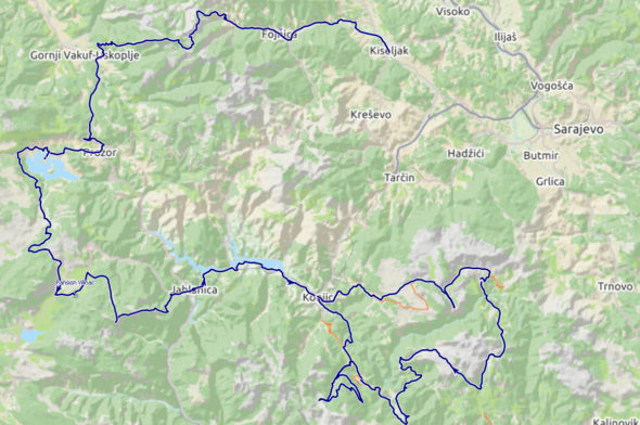 Our route - Biking in Bosnia and Hercegovina