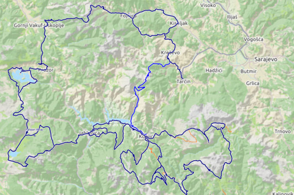 All routes - Biking in Bosnia and Hercegovina